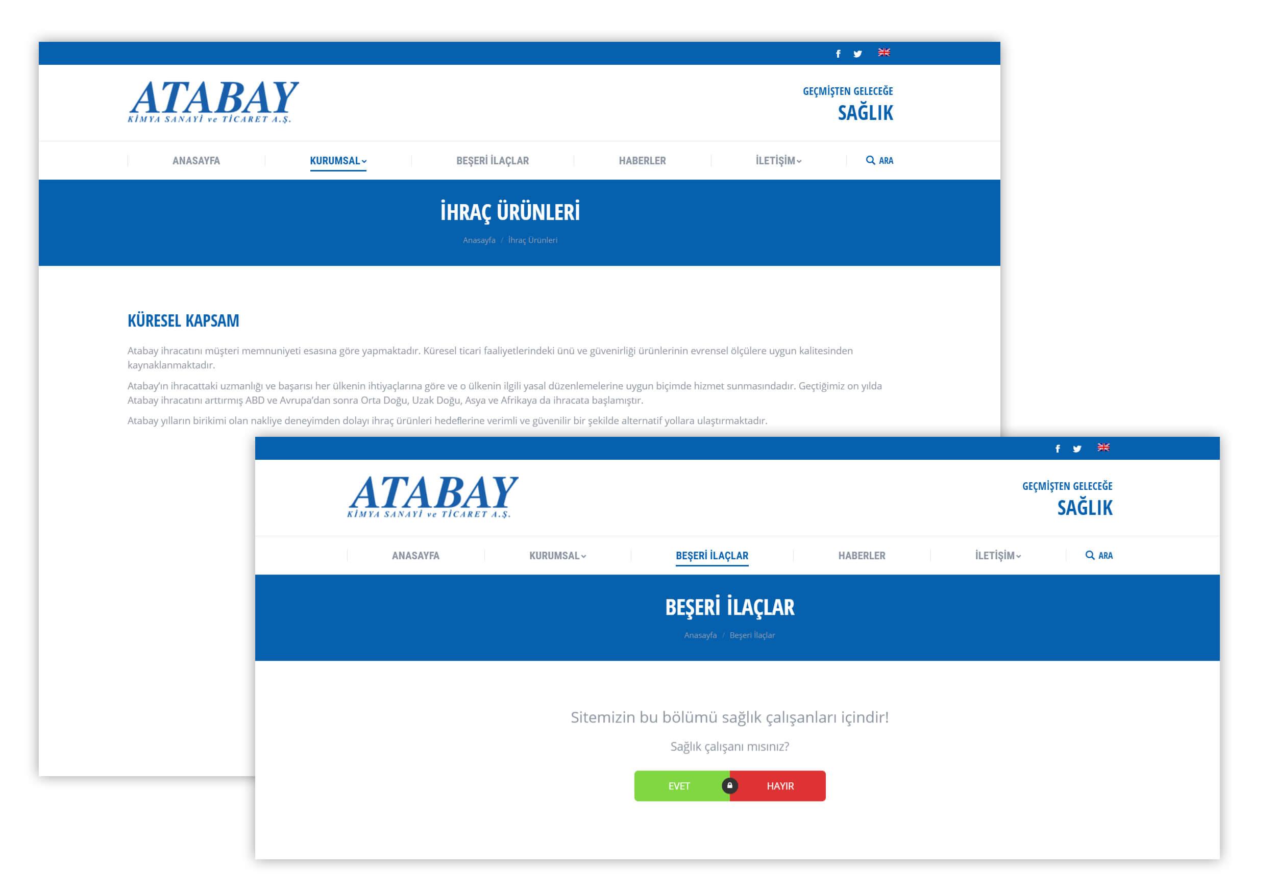 IRM AJans Projeleri - Atabay alt sayfalar