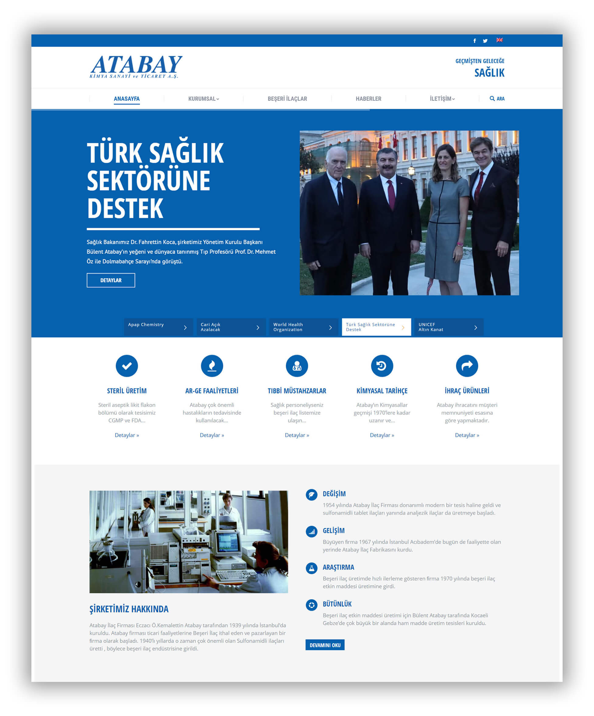 IRM Dijital projeler Atabay ilaç ana sayfa