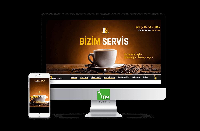 IRM Dijital projeler - Bizim servis web sitesi tasarımı