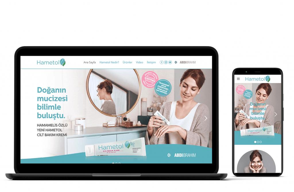 IRM Dijital projeler - Hametol web sitesi tasarımı